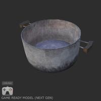 metal pan 3d model