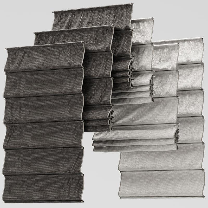 3d model curtains rome