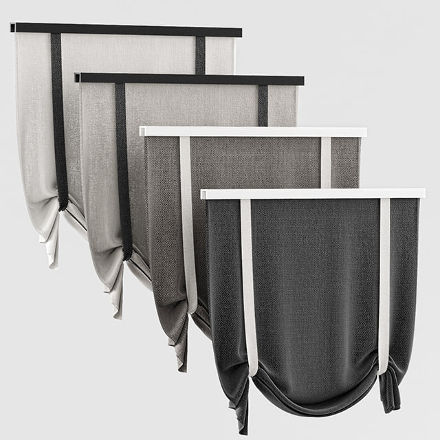 3d curtains rome model