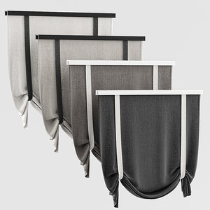 3d curtains rome model
