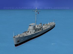 3d pcs submarine chasers model