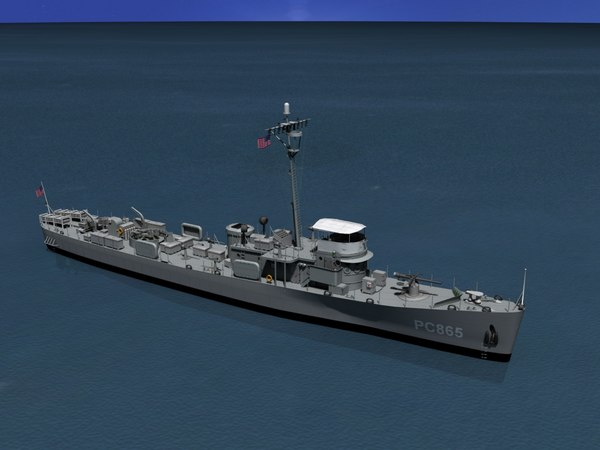 pcs submarine chasers 3d dxf