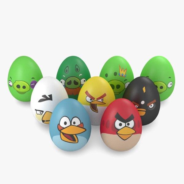 - egg easter angry 3d model