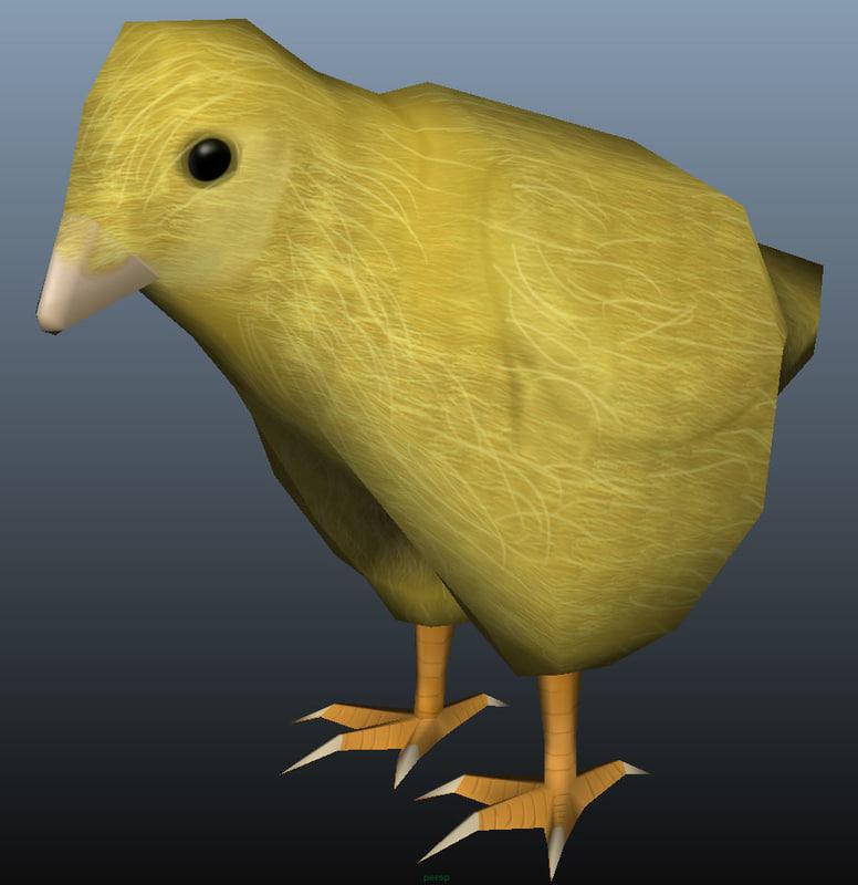 chick 3d fbx