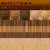 High Resolution Wood Textures Vol. 5 ( 5 PCS )