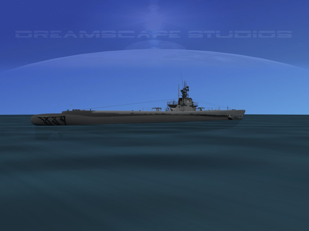 3d model of subs balao class submarines
