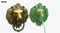lion door knocker 3d obj