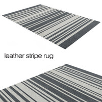 leather stripe rug 3d obj
