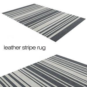 leather stripe rug 3d obj