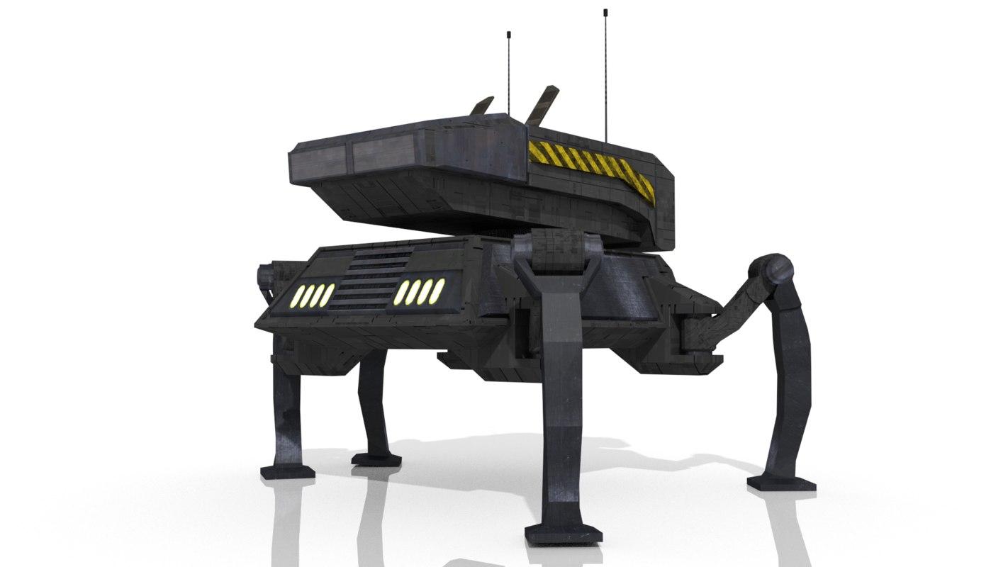 sci-fi spider 3d model