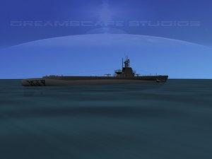 3d model subs balao class submarines
