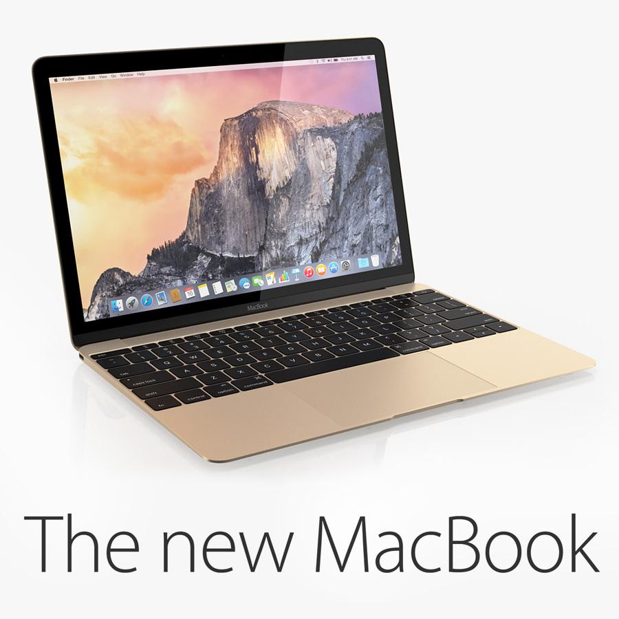 new macbook 12-inch 2015 3d model