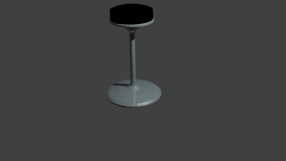 maya low-poly bar stool