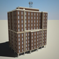 city building 3d obj