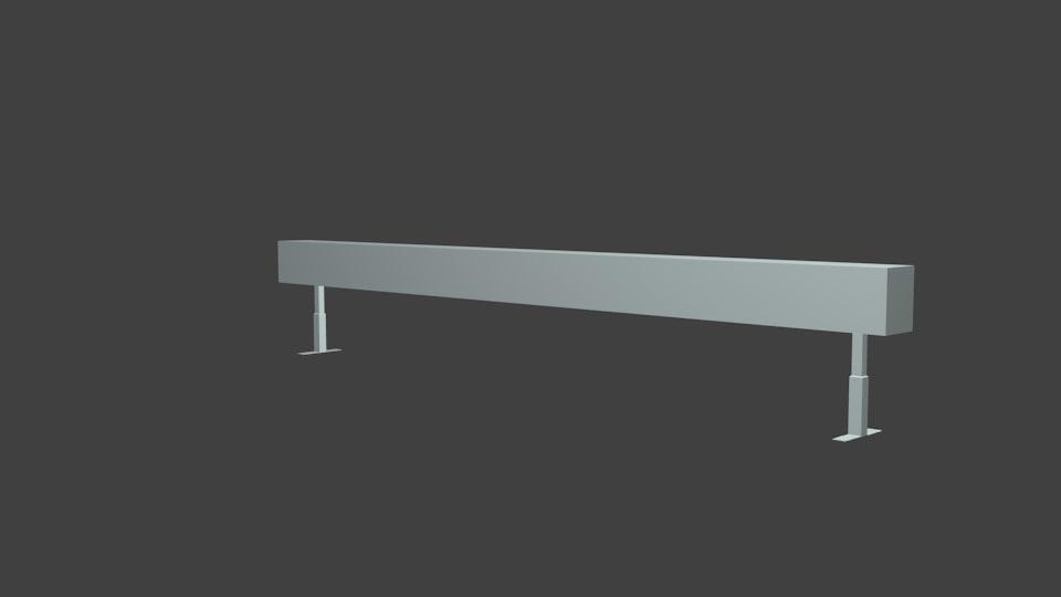3d model skateboarding rail