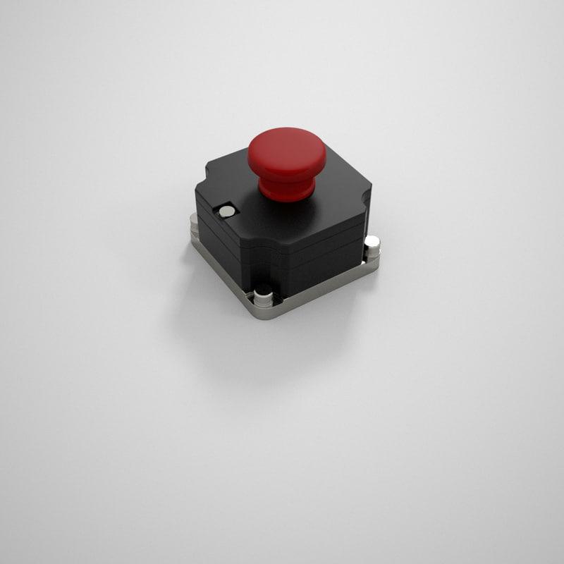 emergency stop button 3d model