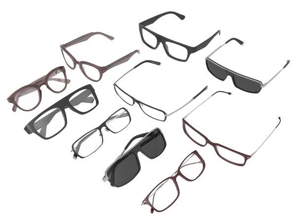 3d designer eyeglasses glasses