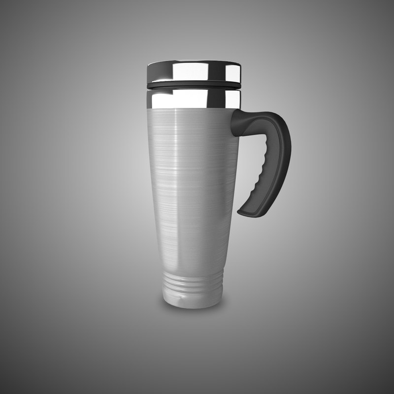 3ds max car stainless steel mug