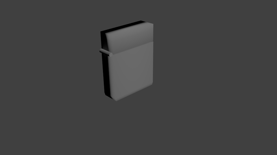 3d model zippo style lighter