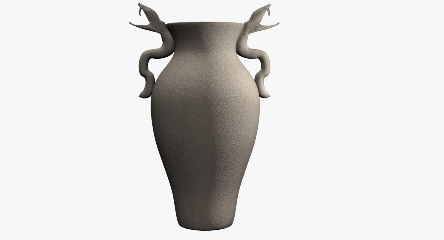 3ds max vase snakes