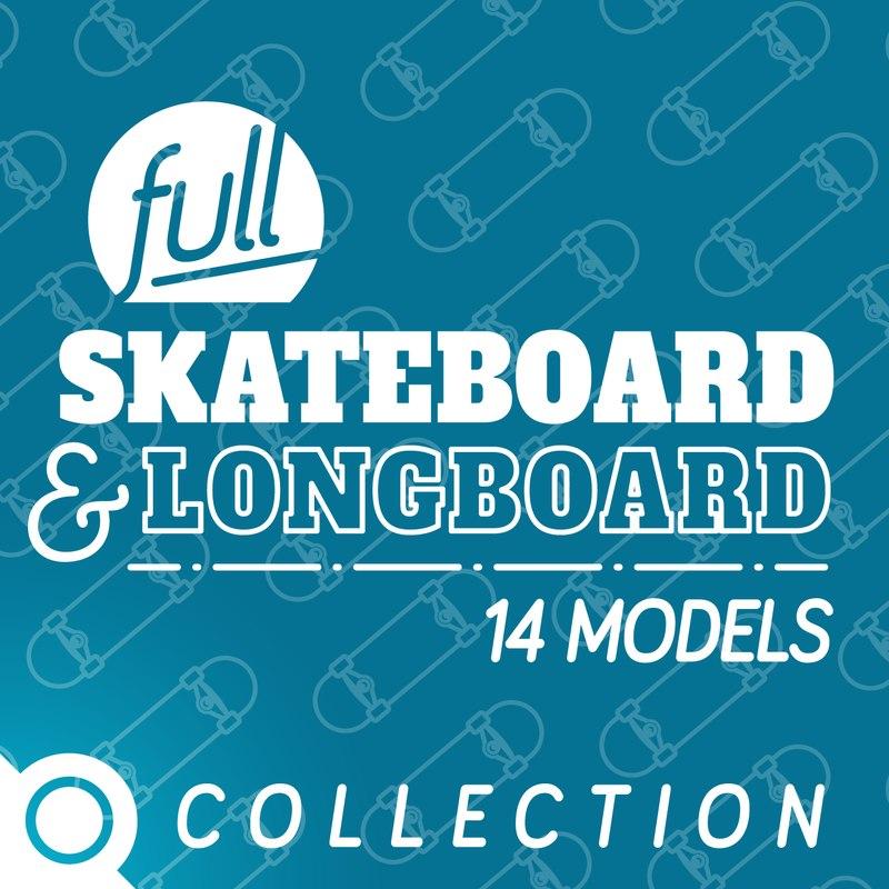 3ds max skateboard longboard
