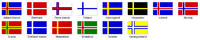 Scandinavian flags textures