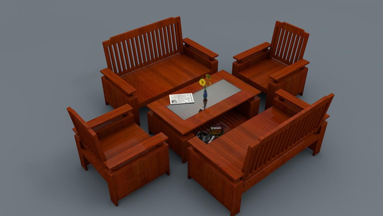 cinema4d wooden chair