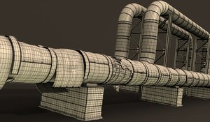 3D district heating pipe