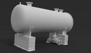3D pressure tank model