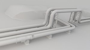 district heating pipe model