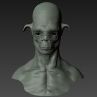 3d model mudbox head
