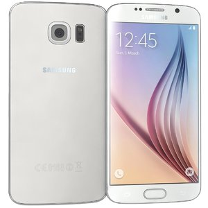 samsung galaxy s6 white 3d 3ds