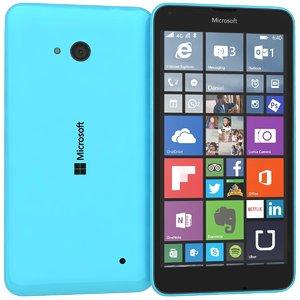 3d microsoft lumia 640 dual model
