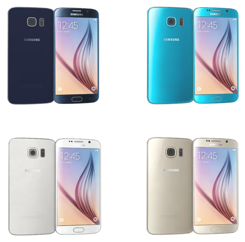 samsung galaxy s6 colors 3d model