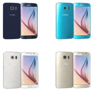 samsung galaxy s6 colors 3d model