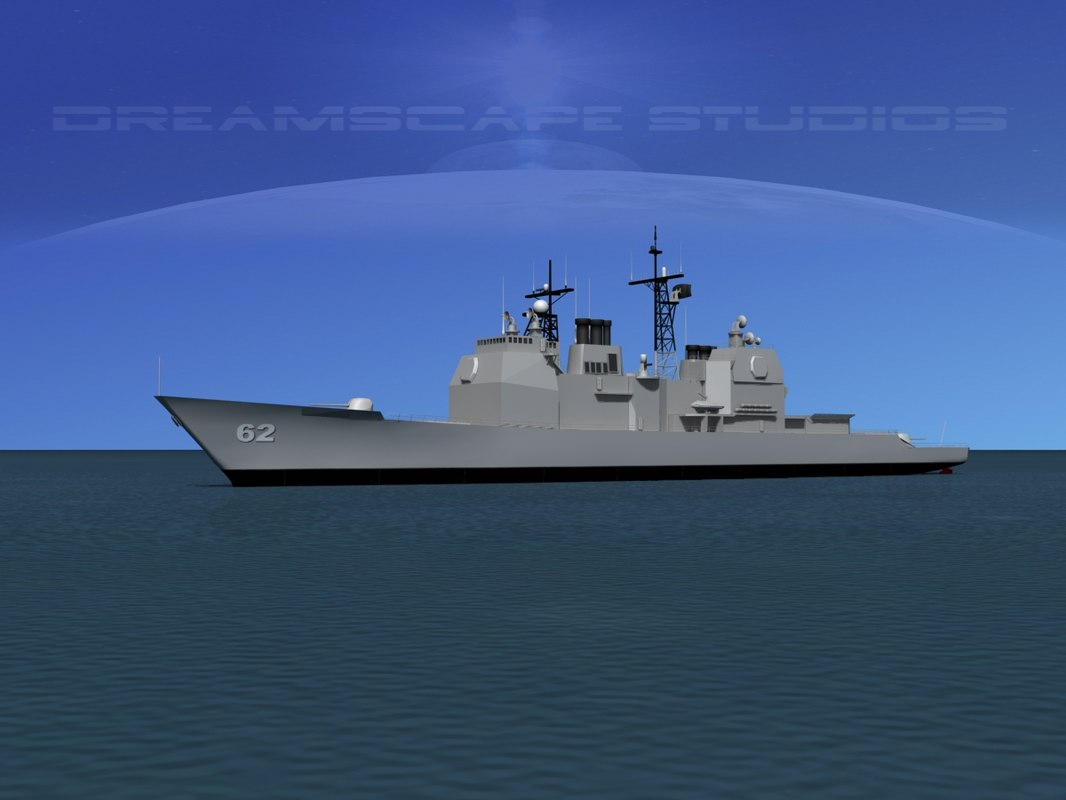 ticonderoga class cruiser 3d obj