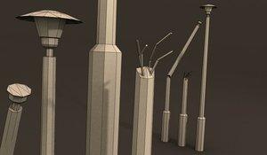 lampa light street games 3D model