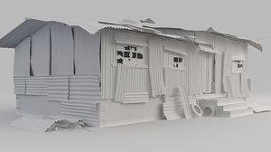 metal shed 3D model