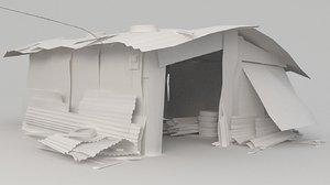 3D slum shed