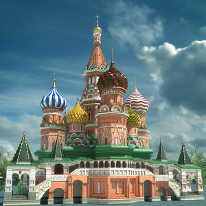saint basils cathedral 3d model