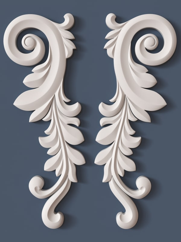 3ds max decorative scroll