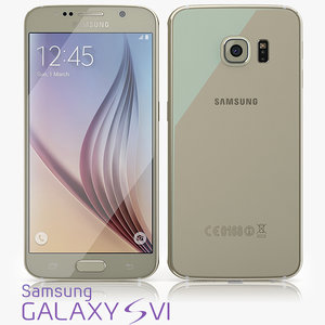 3d samsung galaxy s6 model