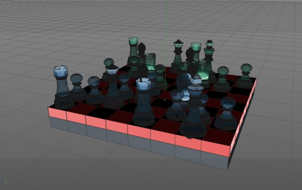 cinema4d holographic chess