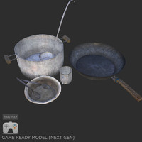 3d post apocalyptic dishes