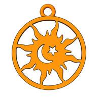 sun moon star 3d model