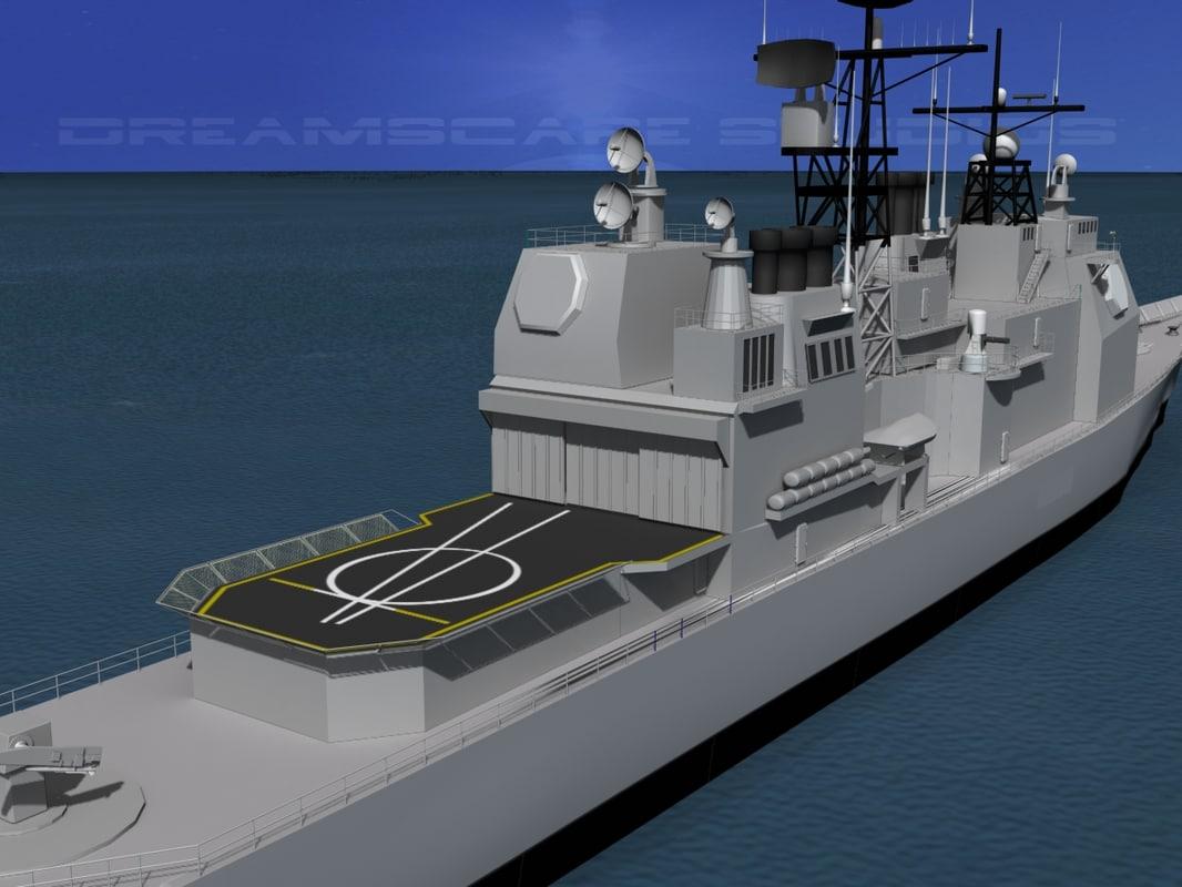 ticonderoga class cruiser 3d 3ds