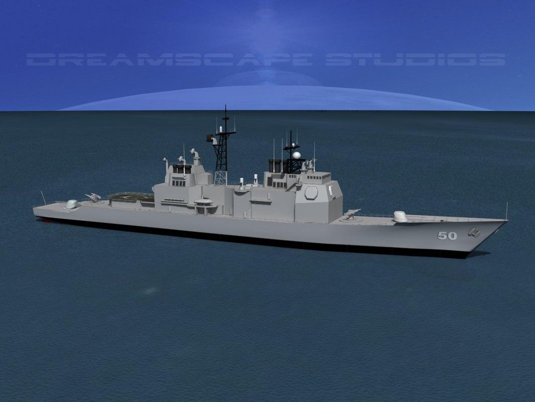 ticonderoga class cruiser 3d dxf