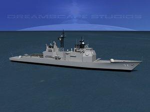 ticonderoga class cruiser 3d model