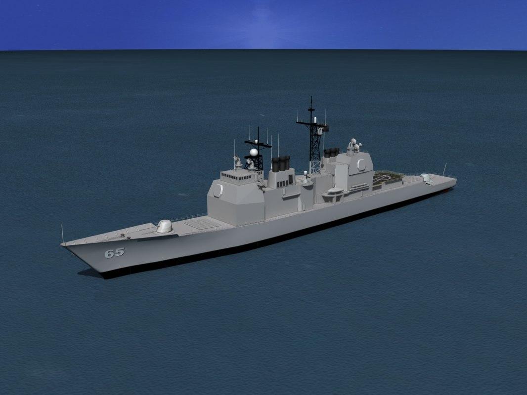 ticonderoga class cruiser 3d dwg