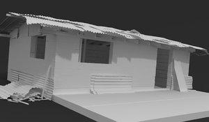 3D metal shed model